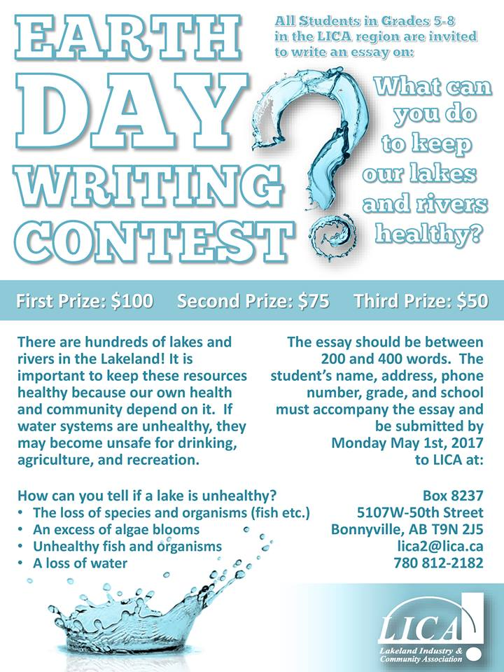 lica holding earth day writing contest my lakeland now earth day
